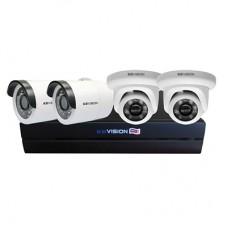 Bộ KIT 4 Camera IP PoE KBVISION 2.0 MP