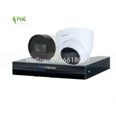 Bộ KIT 2 Camera IP PoE KBVISION 2.0 MP