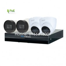 Bộ KIT 4 Camera IP PoE KBVISION 2.0 MP
