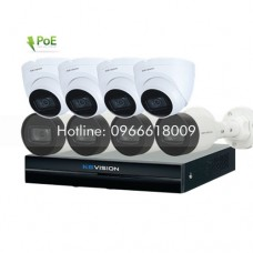 Bộ KIT 8 Camera IP PoE KBVISION 2.0 MP