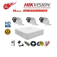 Bộ 3 Camera Thân HIKVISION 1.0MP