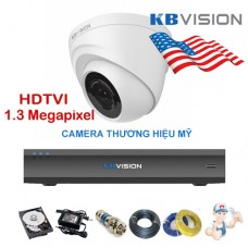 Bộ camera Dome KBVISION 1.3 Megapixel KIT-KB1302C