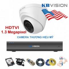 Bộ camera Dome KBVISION 1.3 Megapixel KIT-KB1302C