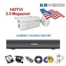 Bộ camera thân KBVISION 2.0 Megapixel  KIT-KB2003C