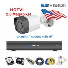 Bộ camera thân KBVISION 2.0 Megapixel  KIT-KB2001C