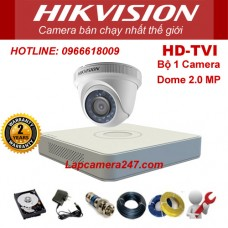 Bộ 1 camera dome HIKVISION 2.0 Megapixel