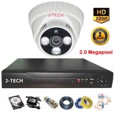 Bộ camera Dome JTech 2.0 Megapixel AHD3206B