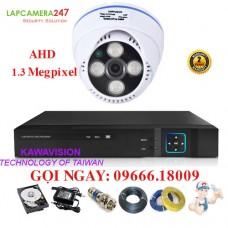 Bộ 1 camera KAWAVISION dome hồng ngoại 1.3 MP