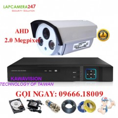 Bộ 1 camera KAWAVISION thân hồng ngoại 2.0 MP