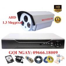 Bộ 1 Camera Thân Ricotech 1.3 Megapixel