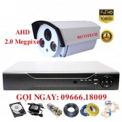 Bộ 1 Camera Thân Ricotech 2.0 Megapixel