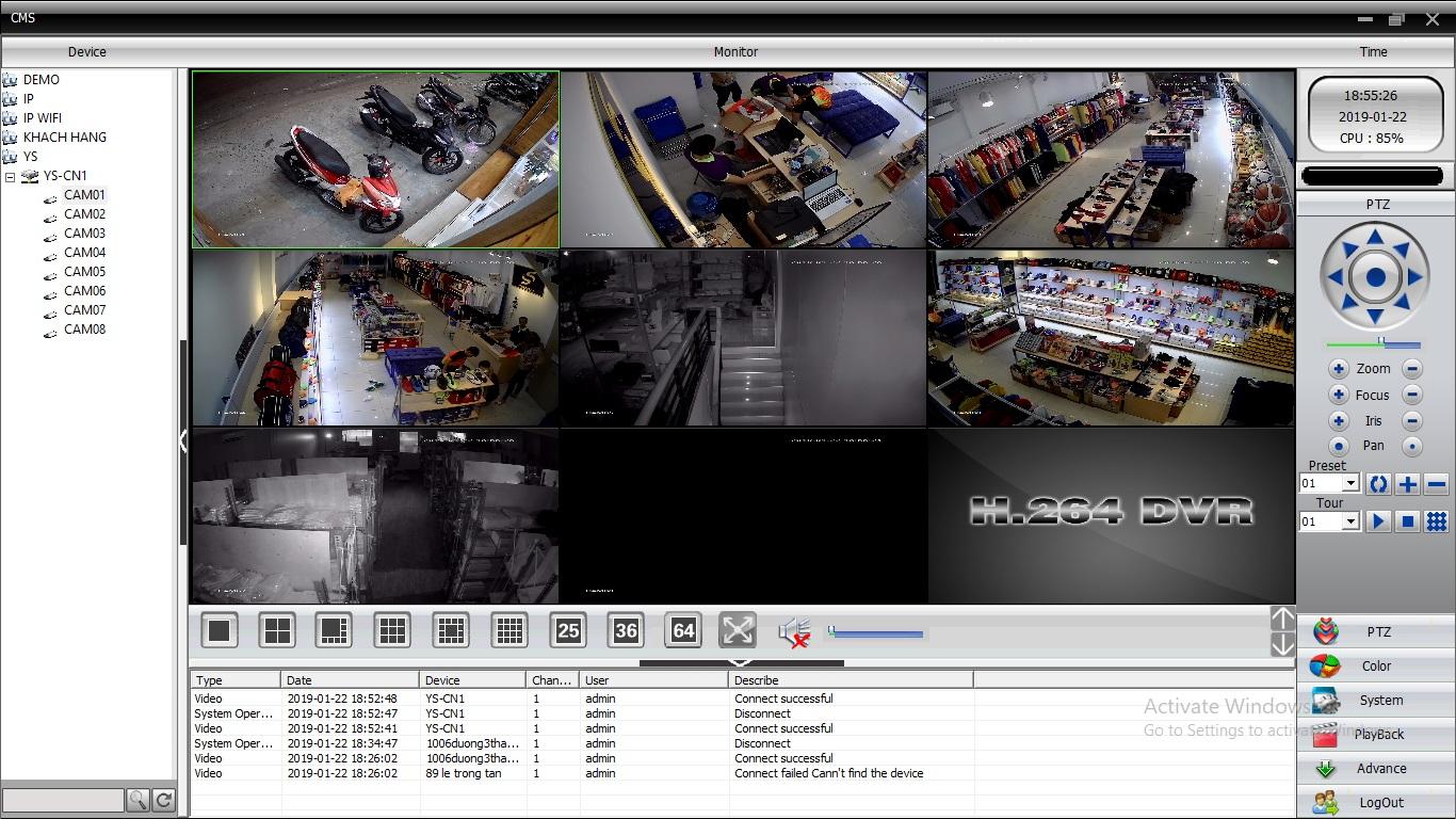 Hướng dẫn cài đặt sử dụng phần mềm CMS camera - trên máy tính